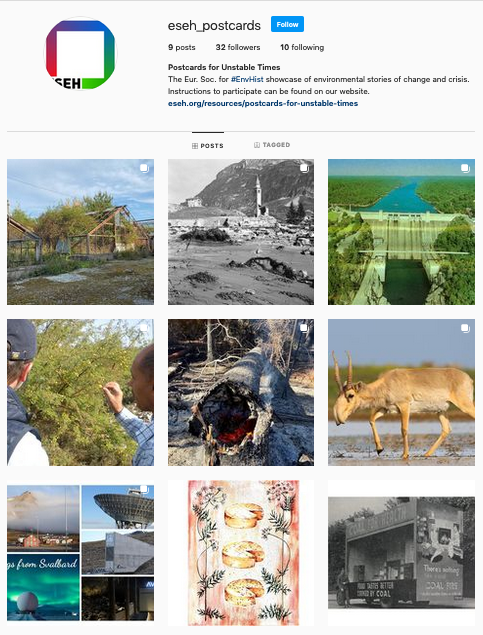 Screenshot of the project's Instagram page